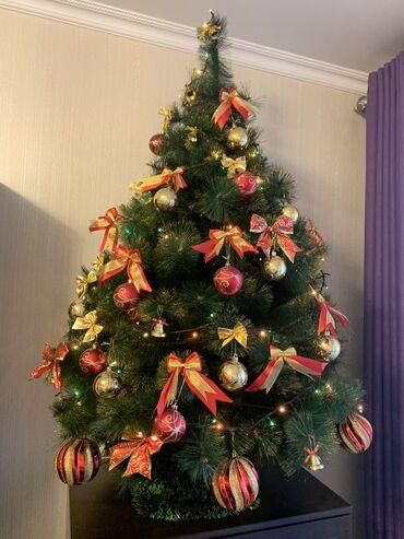 ДЁШЕВО !!!!Искуственная елка + ПОДАРОК Рождественский венок на дверь