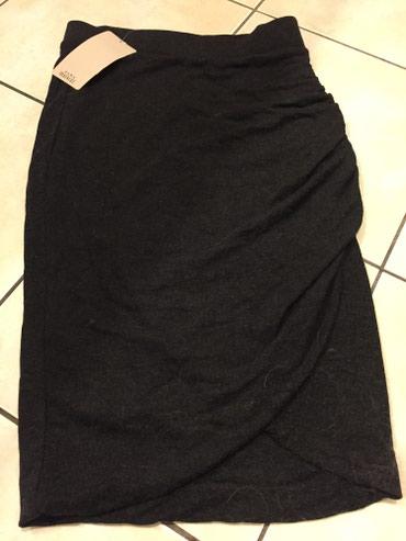 Zara μαλακή μάλινη φούστα φάκελος ανθρακί Νο small Καινούργια