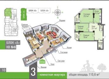 Продажа квартир - Бишкек: Продается квартира: Элитка, Джал, 3 комнаты, 110 кв. м