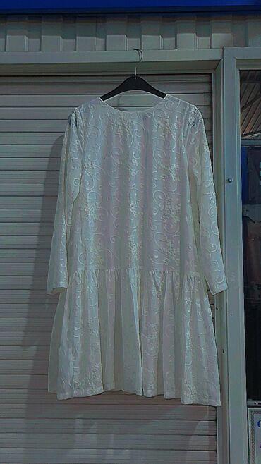 Детский мир - Буденовка: Белое платье красивое с подкладкой 44 -46размер INCITY