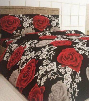 SNIZENO pamucne posteljine za francuski lezaj komplet sadrzi 2