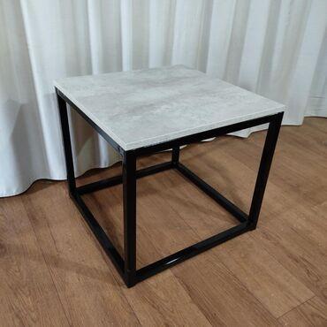 Журнальный столик в стиле лофт 50х50 ЛофтХайтекМебельЭмерек