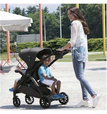Коляска Chicco для двоих детей разных возрастов. Вместе с автолюлькой
