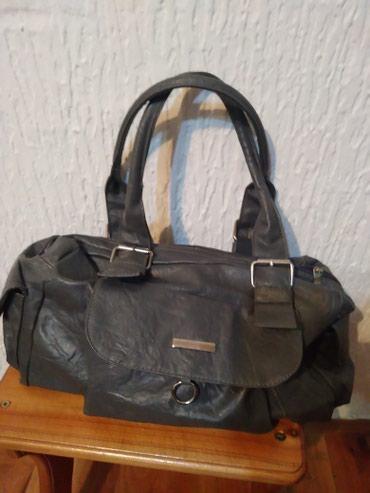 Siva torba od mekane kože,35*25*15 - Vranje