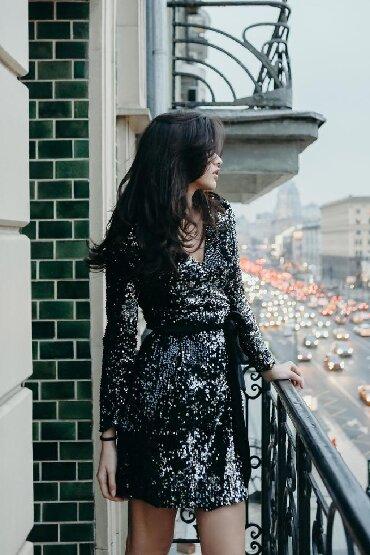снут в Кыргызстан: Продаю чёрное платье в пайетках. Пайетки полностью чёрные. Качество лю