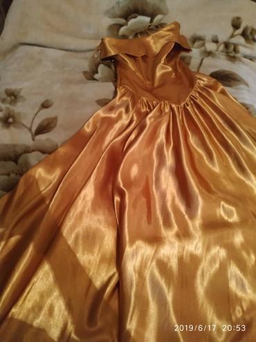 серьги золото 375 проба в Кыргызстан: Платье бальное, пышное. Можно на выпускной. Цвет горчичное золото