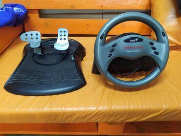 """Продаю игровой руль """"genius speed wheel 3"""" с лепестками.2399 сом в"""