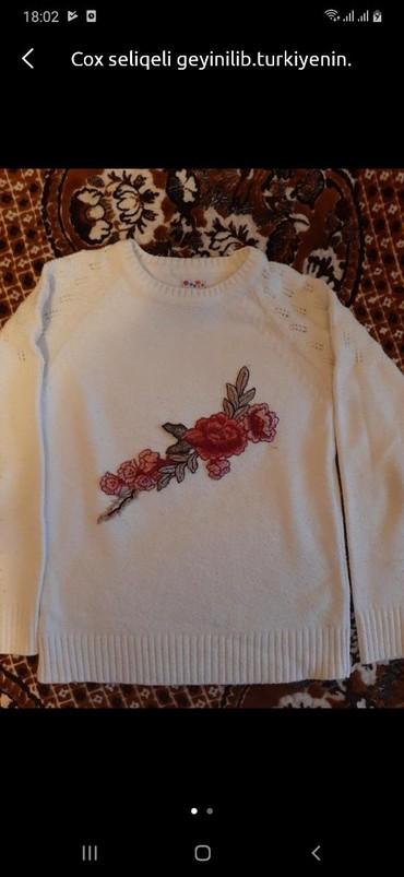 женские-белые-свитера в Азербайджан: 2 el qalin kofta.turkiyenindi