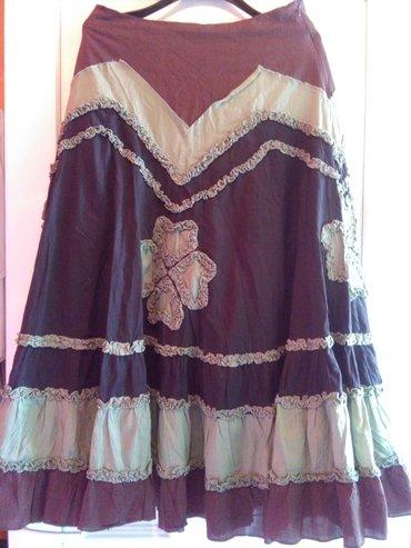 Suknja za leto otkacena skroz,maslinasto smeda,prelepo stoji,vise - Sombor