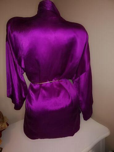 Kućni mantil vrhunski kvalitet 800dnova bluza bela Firmirana