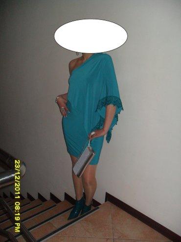 бирюзовое вечернее платье в Кыргызстан: Платье вечернее, цвет-бирюзовый, материал качественный турецкий. разме