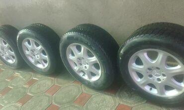 Продаю комплект дисков с шинами мерседеса шины зима все одинаковые