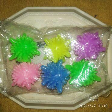 Мячики 6 штук, для стирки в стиральной машине, силиконовые