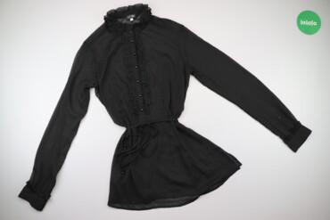 Жіноча блуза з паском та коміром стійкою Armani Jeans, р. S   Довжина