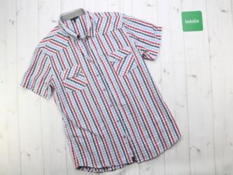 Мужская рубашка в полоску от бренда Lee Cooper,XL Длина: 69 см Пог: 42