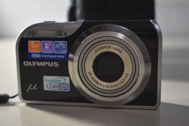 Φωτογραφική μηχανή Olympus με θηκη μεταφοράς και φορτιστη ! 5*zoom