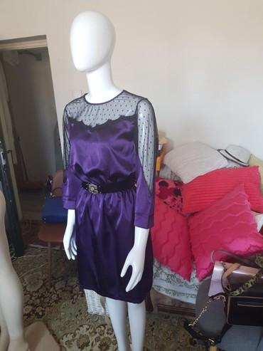 Ljubicasta haljina,  velicina M Poliester 100% Sirina 40cm Duzina 87cm - Kraljevo
