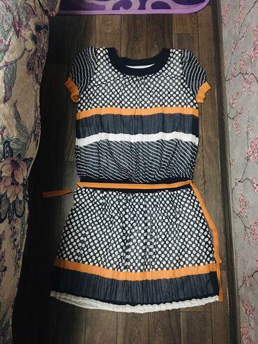турецкое платье шифон в Кыргызстан: Продаю турецкое платье, б/у одевала только раз,размер 44-46, шифон с