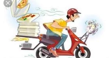 Bakı şəhərində Pizza evine Motokuryer teleb olunur. İş qrafiki 10 saat. Emek haqqı