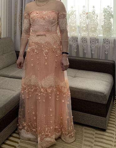 липотрим как отличить подделку в Кыргызстан: Продаю вечернее платье нежного цвета размер L, 46-48 одевали толь