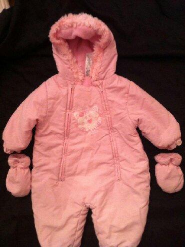 весенние комбинезоны для новорожденных в Азербайджан: Детский теплый комбинезон с рукавичками и сапожками из UK для девочки