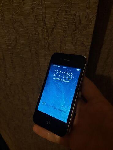 Apple Iphone - Azərbaycan: İşlənmiş iPhone 4 16 GB Qara