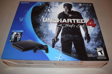 Подлинная Sony PlayStation 4 Slim Uncharted 4 Bundle - 500 в Исмаил Самани