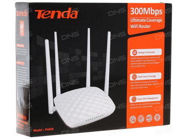 wi-router в Кыргызстан: Wi-Fi роутер Tenda FH456V4.0 Router 4х5dBi Antennas 300Mbps