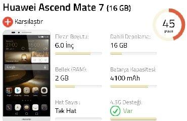 huawei ascend w1 - Azərbaycan: Huawei Mate 7 Satilir xanim ishledib az ishlenib. Sadece bashqa telefo