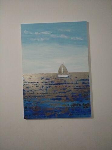 Картина, холст, поталь, автор, размер 120-80 см