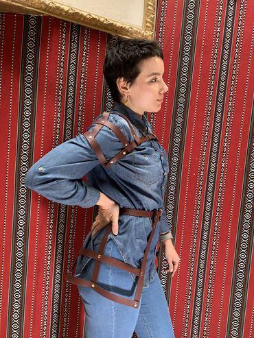 корейская одежда бишкек в Кыргызстан: Комплект. Юбочка и накидка на плечи. Цвет: бордовый.Размер