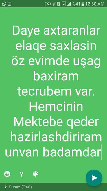 daye isci teleb olunur - Azərbaycan: Tecrubeli daye axtaranlar elaqe saxlasin mash 200azn