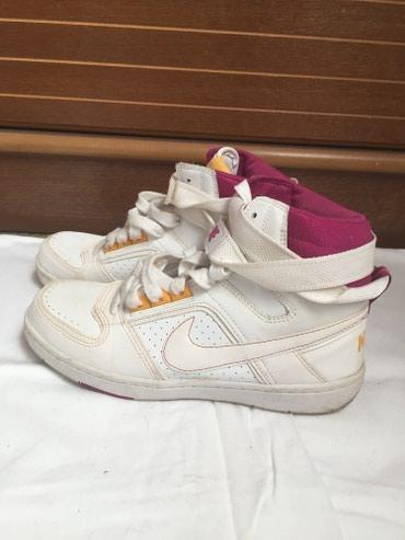 Bele-patike - Srbija: Original Nike bele ženske patike, vrlo malo nošene što se može videti