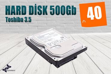 Sərt disklər və səyyar vincesterlər - Azərbaycan: SƏRT DİSK, HDD Toshiba 500Gb 3.5▶ TEST - 100%▶