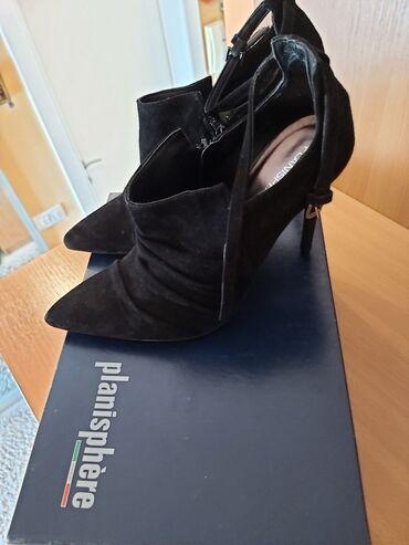 Kozne cipele - Srbija: Italijanske velur kozne cipele, nikad obuvene, bez ostecenja