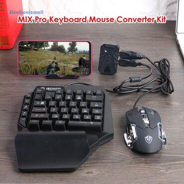 Другие аксессуары для мобильных телефонов - Бишкек: Комплект Блютузный адаптер + клавиатура с мышкой для игр : PUBG