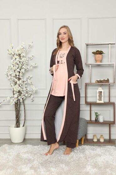 Пижамы с длинным халатом.Отличный вариант как для дома, так и для