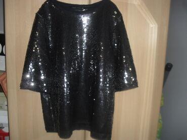 ZARA bluza S-MPrelepa bluza crna sva od krljuštišav reckav od