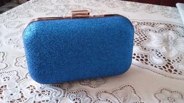 зажимы для денег в Азербайджан: Красивая синяя сумка - 27 ман. Новая. К ней есть такие же синие