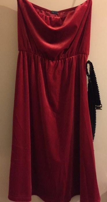Zara Sttapless ,Βελουδίνο, κόκκινο, φόρεμα με σε Rest of Attica