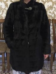 шубу размер 46 48 в Кыргызстан: Продаю норковую шубу, поперечка, черный бриллиант, размер 46-48