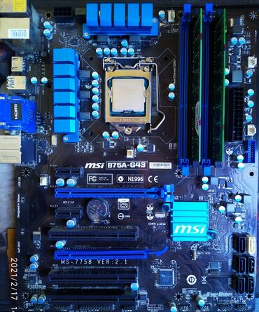 Продаю комплект.Материнская плата msi b75a-g43 (1155 сокет)процессор