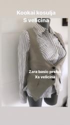 Ženska kućna odeća - Novi Sad: Zara basic prsluk 699dinXs velicina -PRODAT Kookai kosulja 799dinS