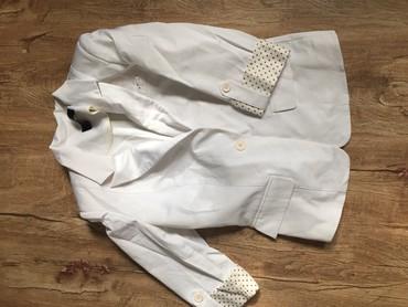 Пиджак белый, на манжете горох в Бишкек
