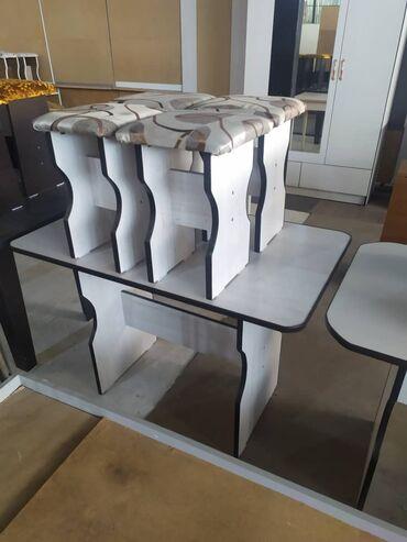 стол с табуретками in Кыргызстан   ДРУГИЕ ТОВАРЫ ДЛЯ ДОМА: Стол кухонный с табуретками по выгодным ценам