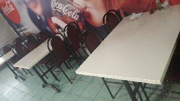 стол с двумя стульями в Кыргызстан: Продаю стол стул комплект 3 шт
