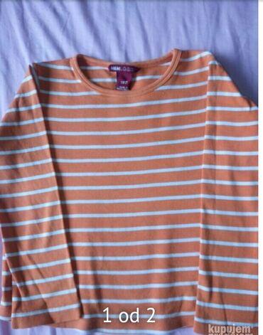 Dečija odeća i obuća - Obrenovac: Majica h & mVel 5-6 Nova nosena dva tri puta Boja je identicna