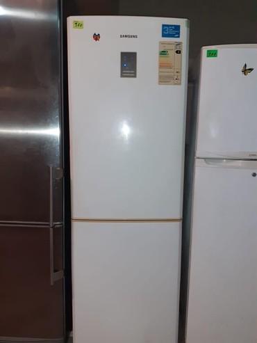 zhenskaya parka в Азербайджан: Б/у Двухкамерный Белый холодильник Samsung