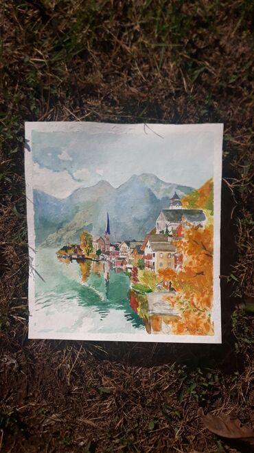 Akvarel,radjeno na papiru 300 grama. 24cm sa 10,5cm