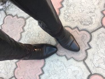 Продаю сапоги черного цвета деми 40 размер в Бишкек